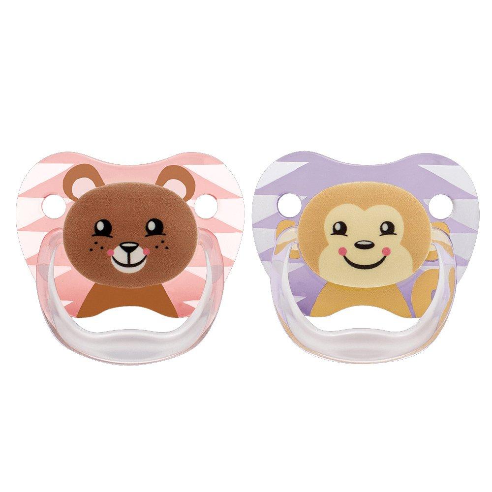 Dr Browns PreVent Ορθοδοντική Πιπίλα Σιλικόνης Με Σχέδια Animal 6-12 Μηνών 2 Τεμάχια PV22014