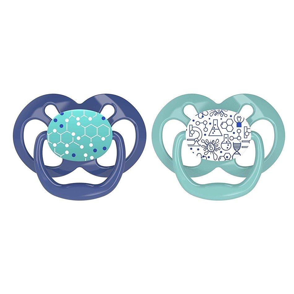 Dr Browns Advantage Πιπίλα Σιλικόνης Μπλε – Πράσινο 6-18 Μηνών 2 Τεμάχια PA22002