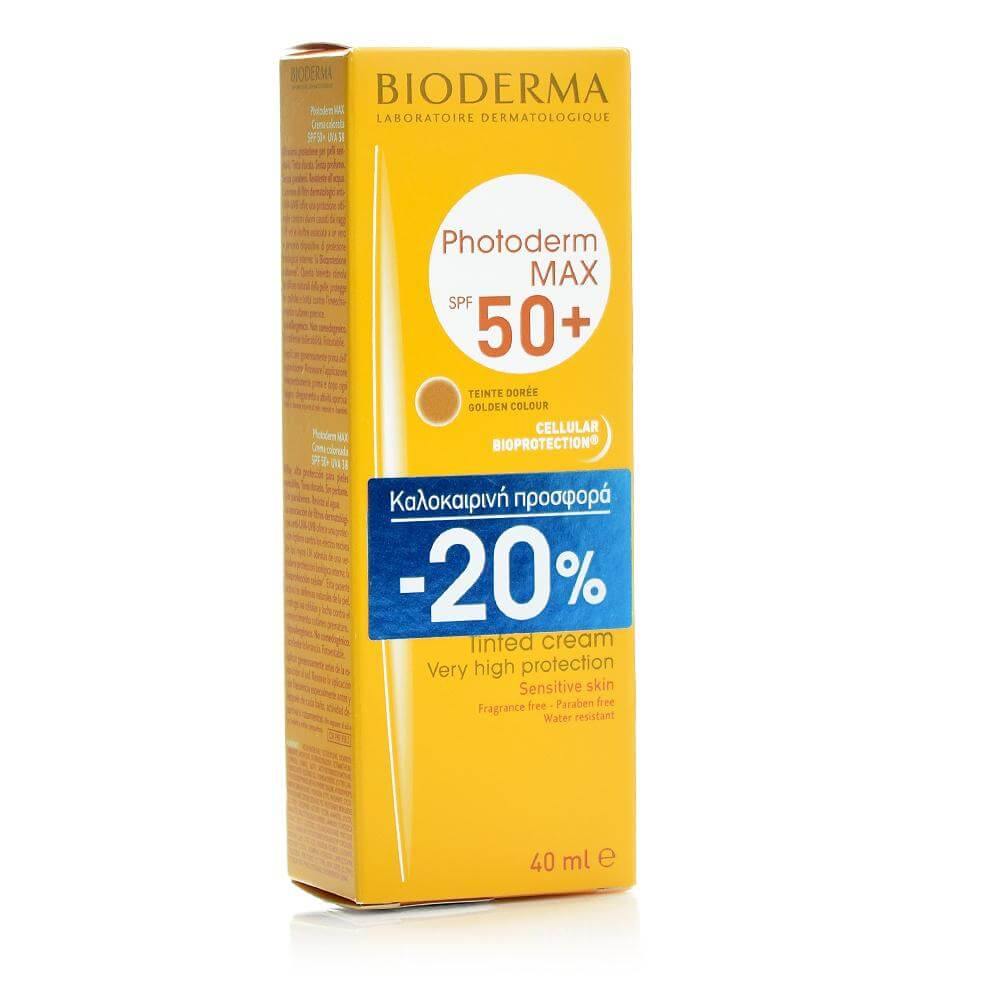 Bioderma Photoderm Max Spf50+ Creme, Teinte Doree 40ml