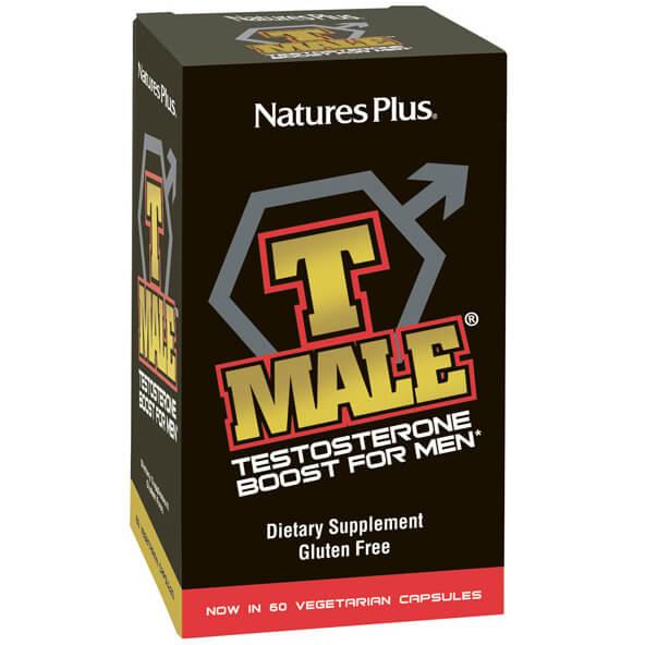 Natures Plus T-Male Συμπλήρωμα Διατροφής Ανδρικό Τονωτικό Βελτιώνει την Αντοχή, την Εγκεφαλική και Σεξουαλική Λειτουργία 60Caps