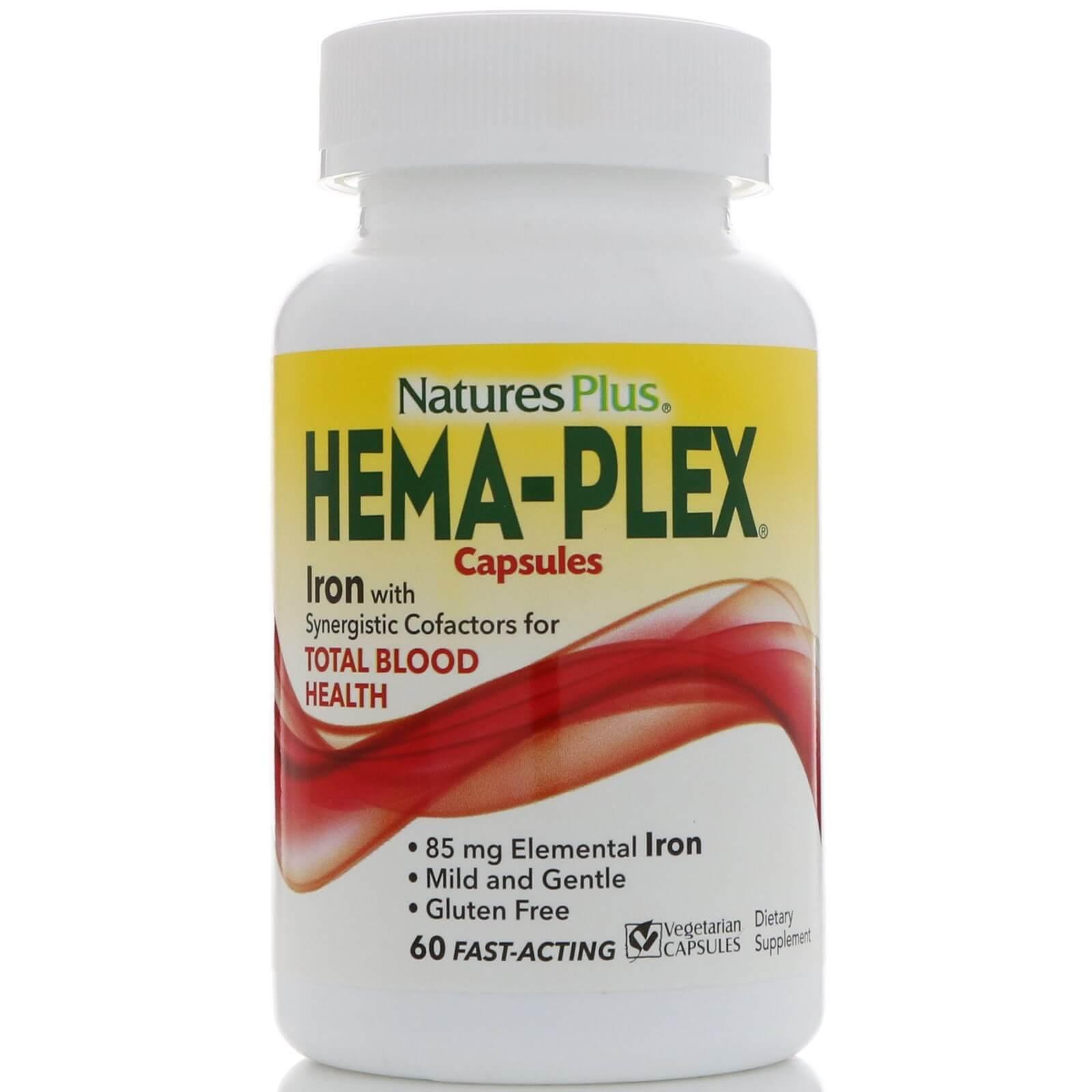 Natures Plus Hema-Plex Συμπλήρωμα Διατροφής με Εξαιρετική Φόρμουλα για τη Βελτίωση της Ποιότητας του Αίματος 60caps