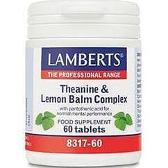 Lamberts Theanine & Lemon Balm Complex Συμπλήρωμα Διατροφής για Περιόδους Στρες και Άγχους60tbs