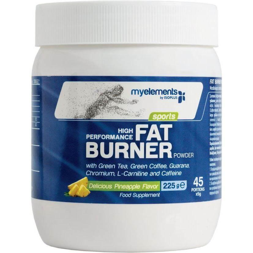 MyElements Sports High Performance Fat Burner Powder Ειδική Φόρμουλα για την Ενέργεια & τον Έλεγχο Βάρους με Γεύση Ανανά 225gr