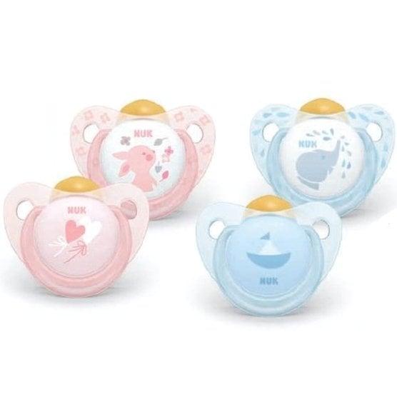 Nuk Trendline Baby Rose And Blue Ορθοδοντική Πιπίλα Καουτσούκ – Baby Blue 6-18 Μηνών