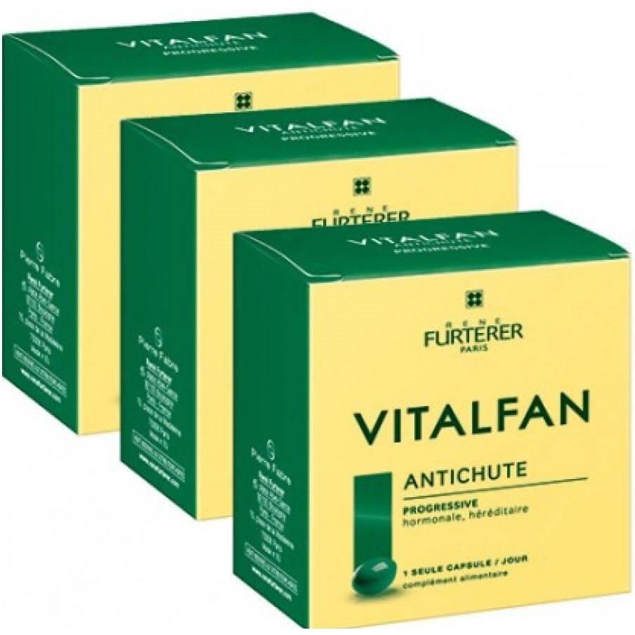 Rene Furterer Vitalfan Progressive Συμπλήρωμα Διατροφής για την Προοδευτική Τριχόπτωση 30caps 2+1 Δώρο