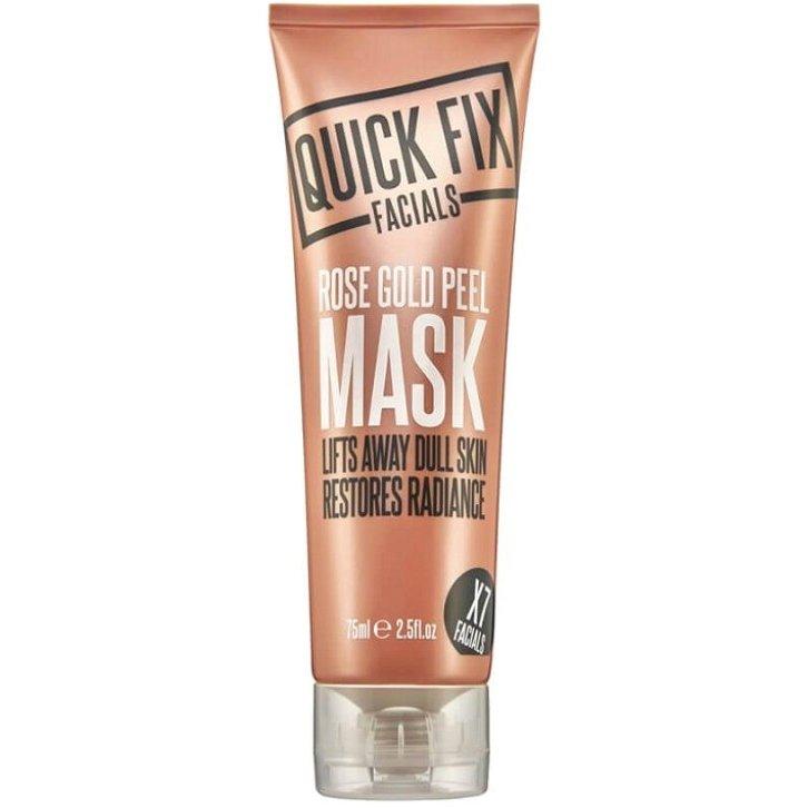 Quick Fix Facials Rose Gold Peel Mask, Μάσκα Ιδανική για Θαμπό και Κουρασμένο Δέρμα που έχει Ανάγκη από Τόνωση 75ml
