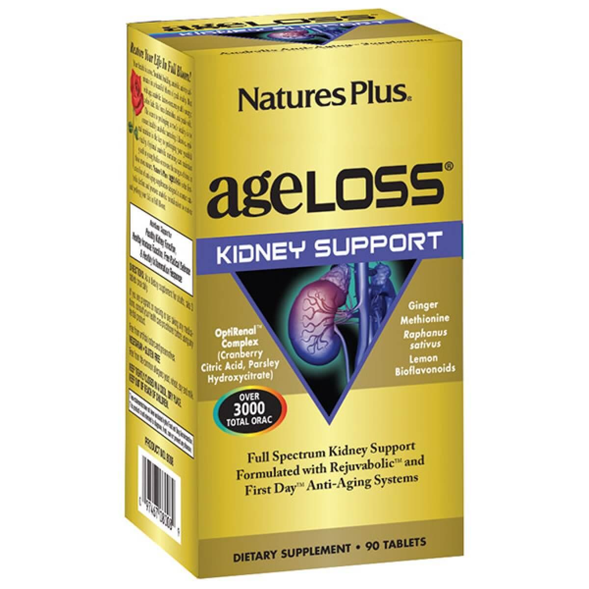 Natures Plus Ageloss Kidney Support 90 Συμπλήρωμα Διατροφής για την ΥποστήριξητωνΝεφρών90 Ταμπλέτες