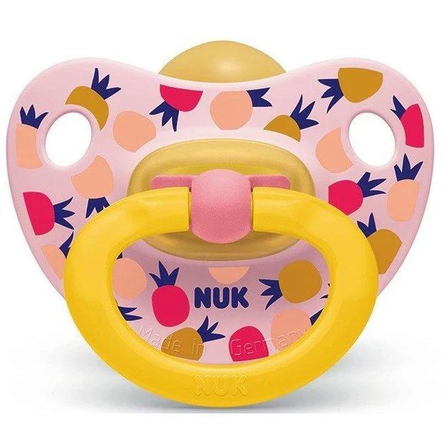 Nuk Classic Happy Kids Πιπίλα Καουτσούκ 6-18 Μηνών 1 Τεμάχιο