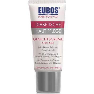Eubos Diabetic Skin Care Face Cream Anti-Age Περιποίηση για το Διαβητικό Δέρμα, Αντιρυτιδική Κρέμα Προσώπου 50ml