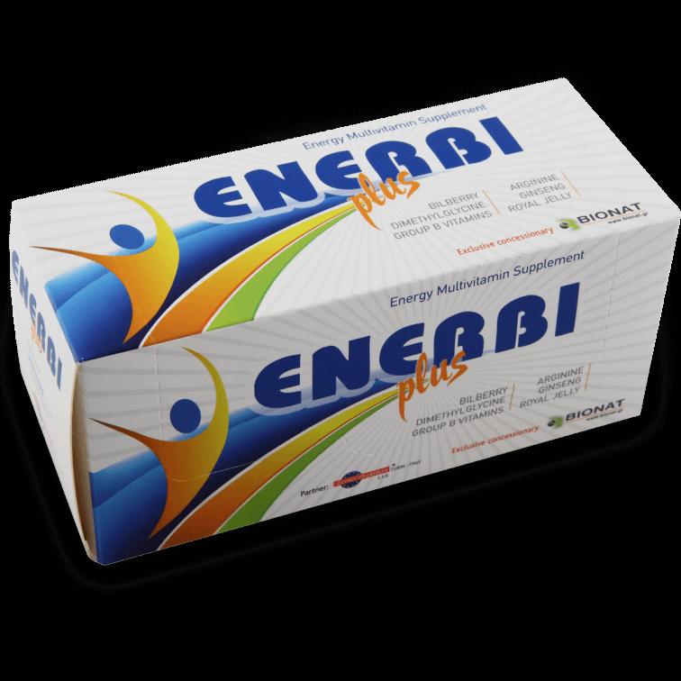 Bionat Enerbi Plus Αποτελεσματική Φόρμουλα για Ευεξία για Άμεση Τόνωση & Ενέργεια 10vials x 15ml