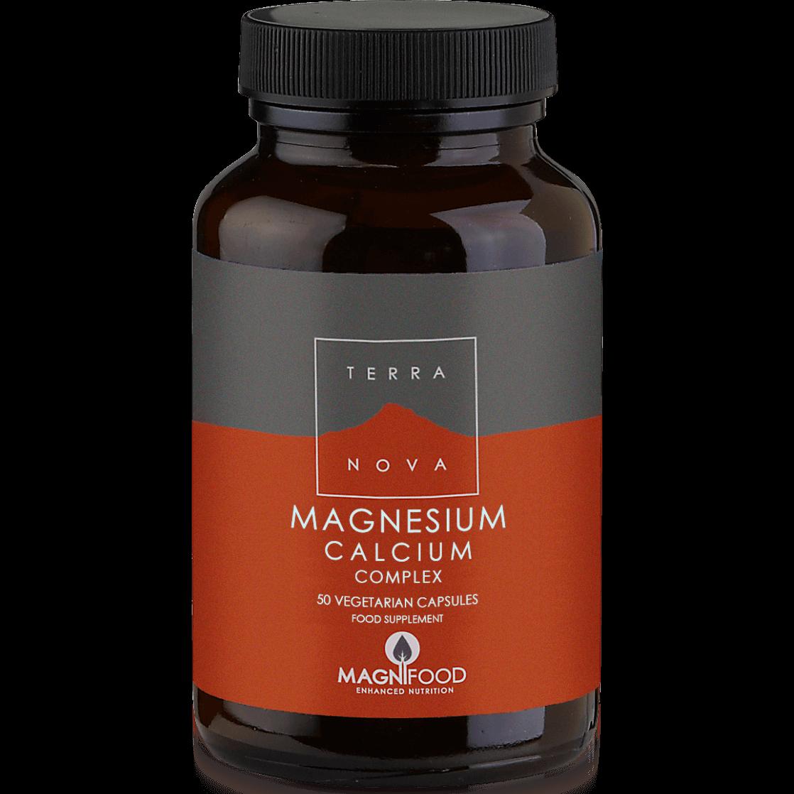 Terranova Magnesium Calcium Complex Μοναδική Σύνθεση Μαγνησίου με Ασβέστιο για Μέγιστη Απορρόφηση 50caps