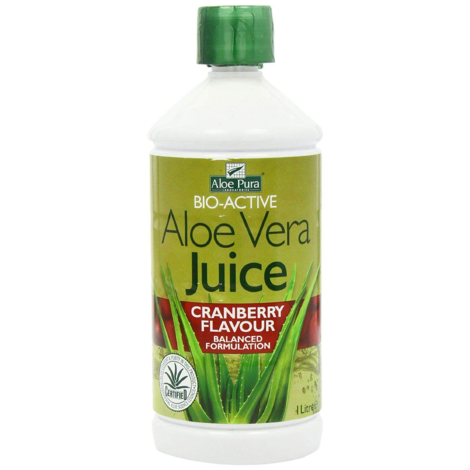 Optima Aloe Vera Juice with Cranberry 1lt