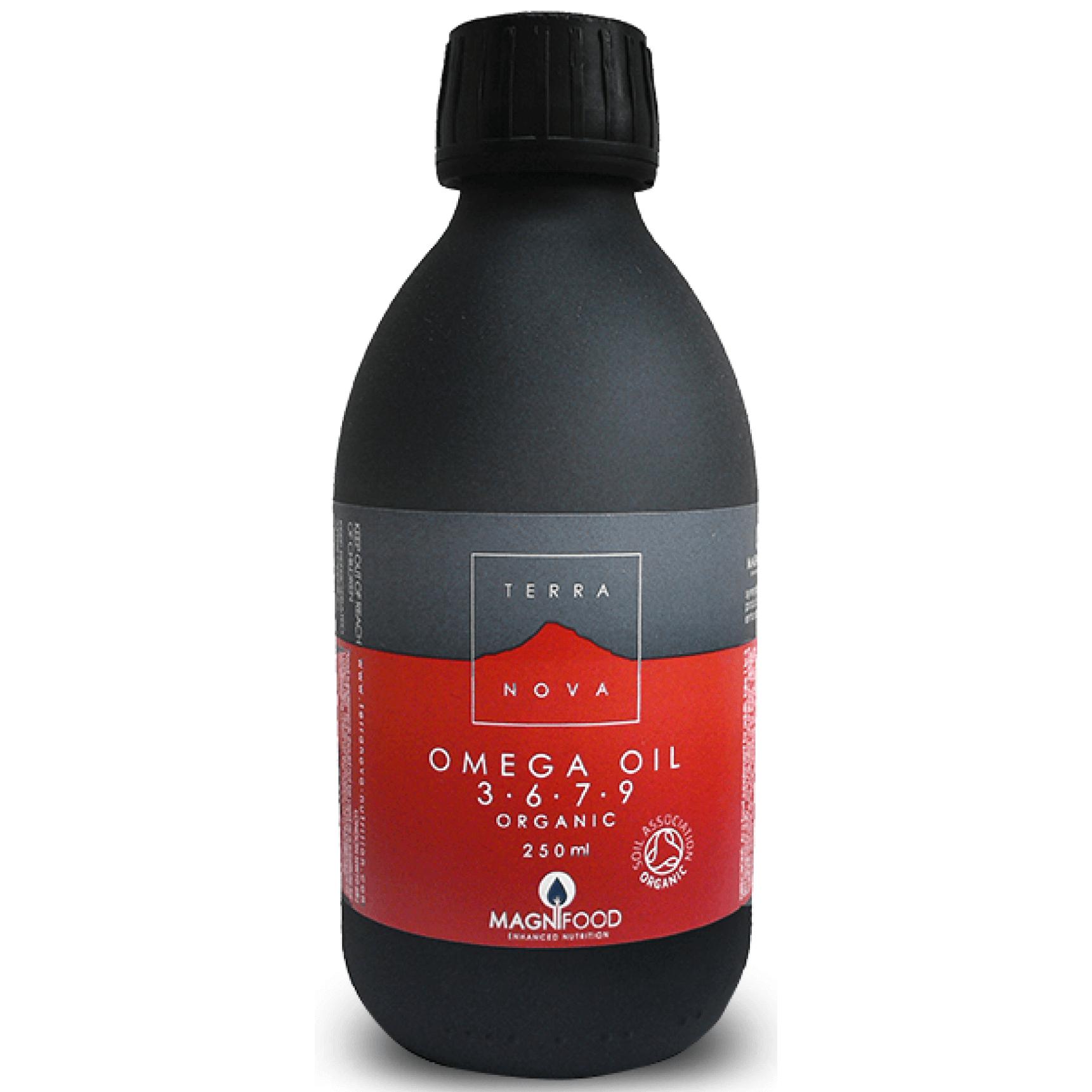 Terranova Omega Oil 3-6-7-9 Το Μόνο 100% Φυτικό, Βιολογικής Καλλιέργειας με Ω7, Χωρίς Ιχθυέλαια 250ml