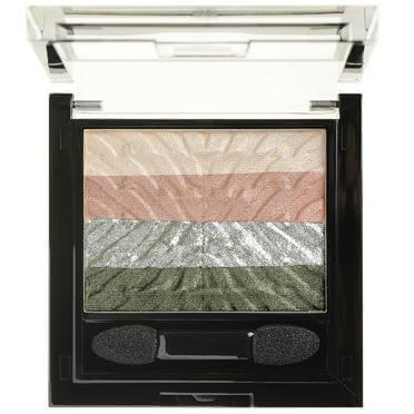 Korres Black Volcanic Minerals Eyeshadow Palette Olive Pink Μεγάλης Διάρκειας Σκιές Ματιών 5.5 ml
