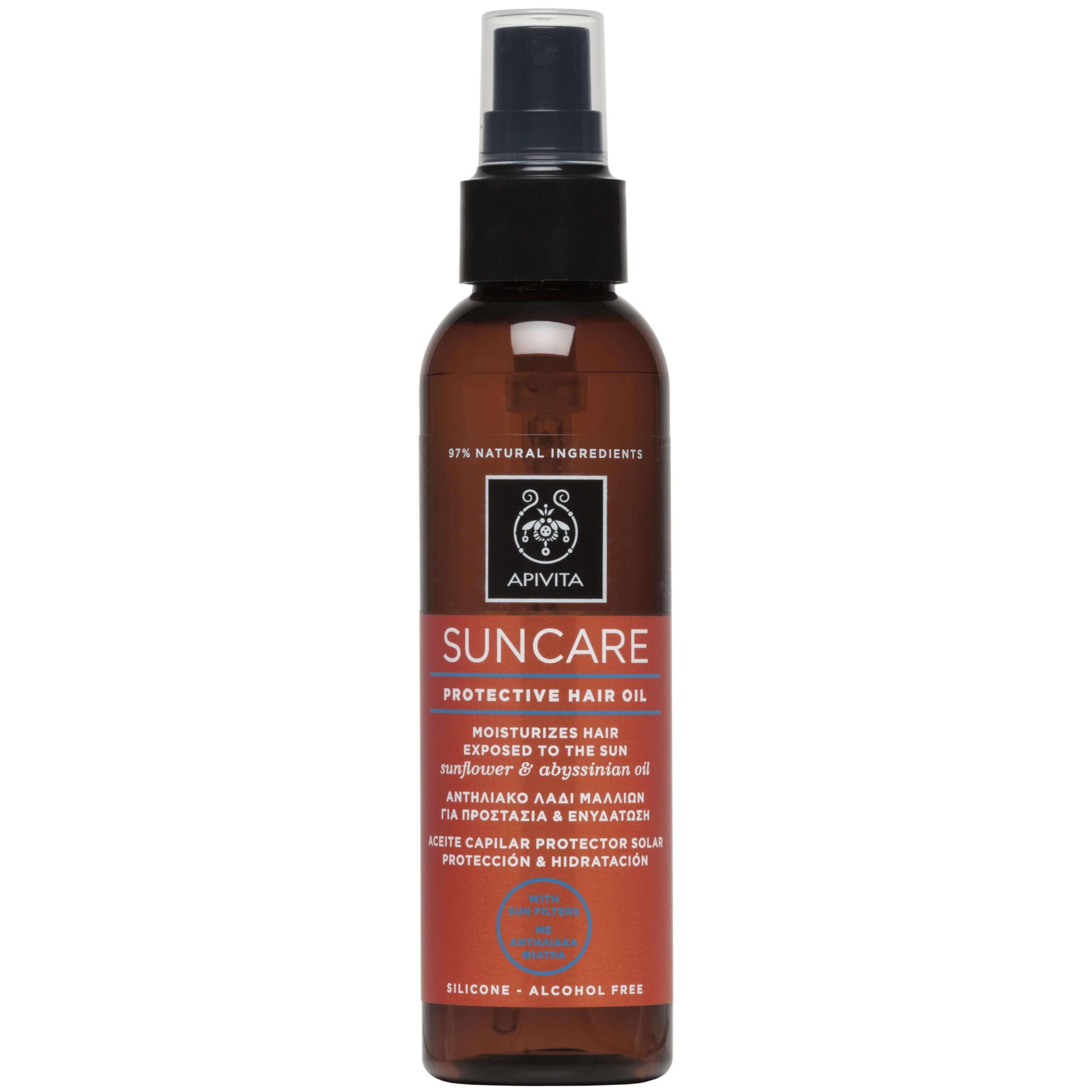 Apivita Suncare Protective Hair Oil Αντηλιακό Λάδι Μαλλιών Για Προστασία Και Ενυδάτωση 150ml