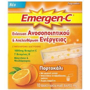 Emergen-C 1000mg Βιταμίνη C 7 Βιταμίνες Β Μαγνήσιο & Ψευδάργυρο Συμπλήρωμα Διατροφής για Ενίσχυση του Ανοσοποιητικού 10φακελάκια – Λεμόνι
