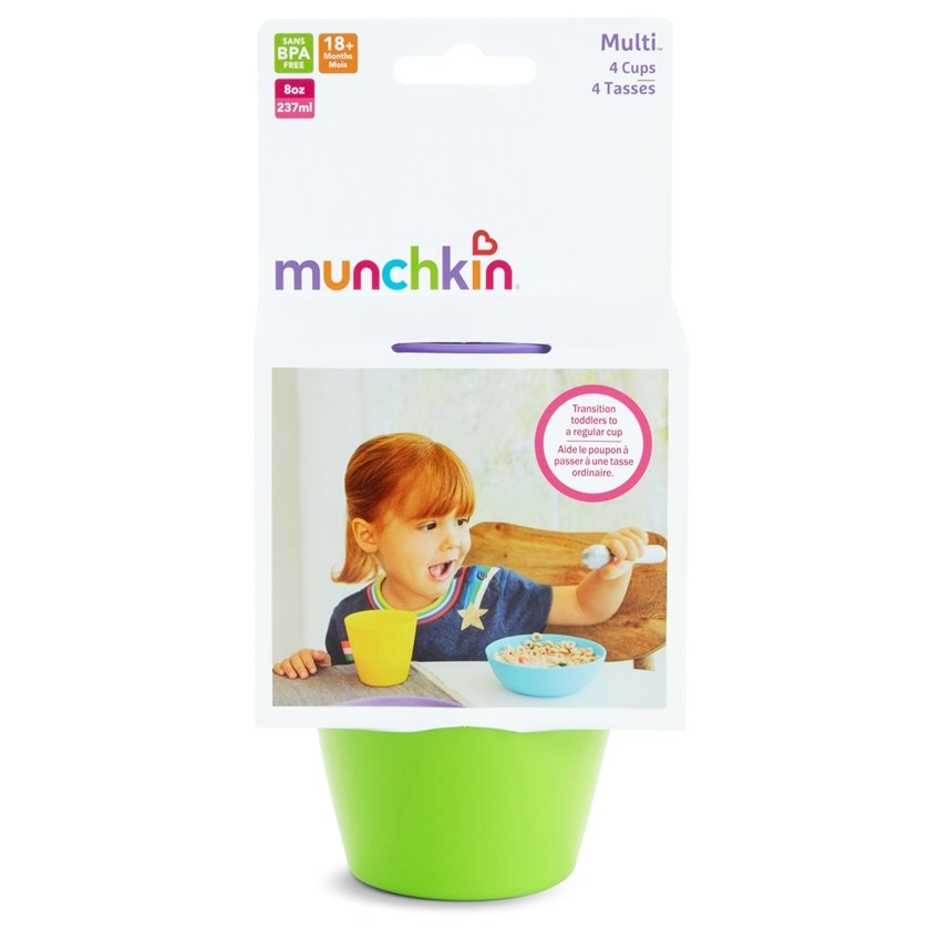 Munchkin Modern Multi Cups 4 Πολύχρωμα Ποτηράκια