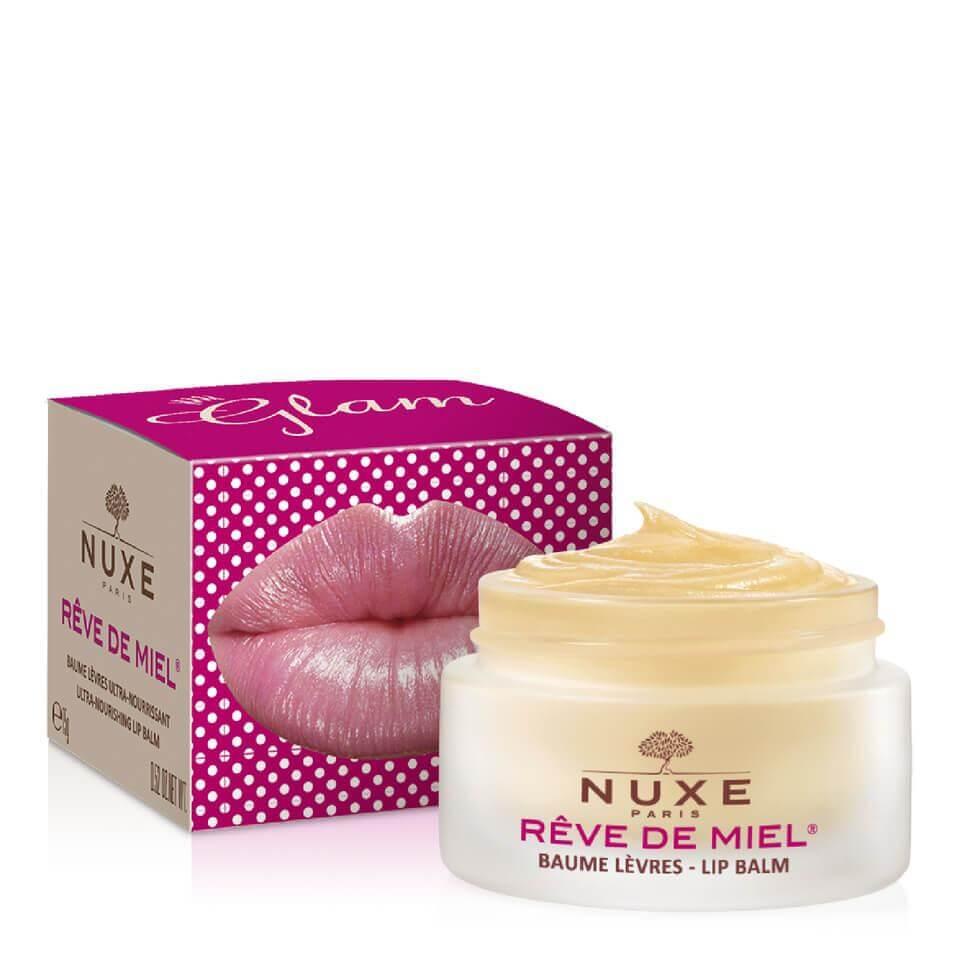 Nuxe Reve De Miel Baume Levres GlamΘρεπτικό Βάλσαμογια Ξηρά &Σκασμένα Χείλη 15ml