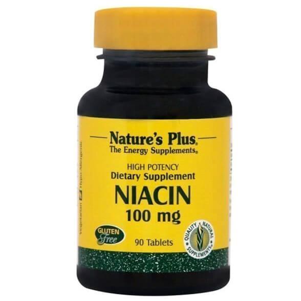 Natures Plus Niacin Νιασίνη 100mg 90tabs