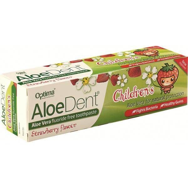 Optima Οδοντόκρεμα Aloe Dent Strawberry Childrens 50ml