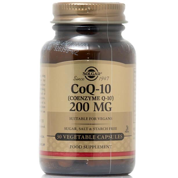 Coenzyme CoQ10 200mg 30 veg.caps – Solgar,Συμπλήρωμα Διατροφής με Συνένζυμο Q10 με Αντιοξειδωτική και Αντιγηραντική Δράση