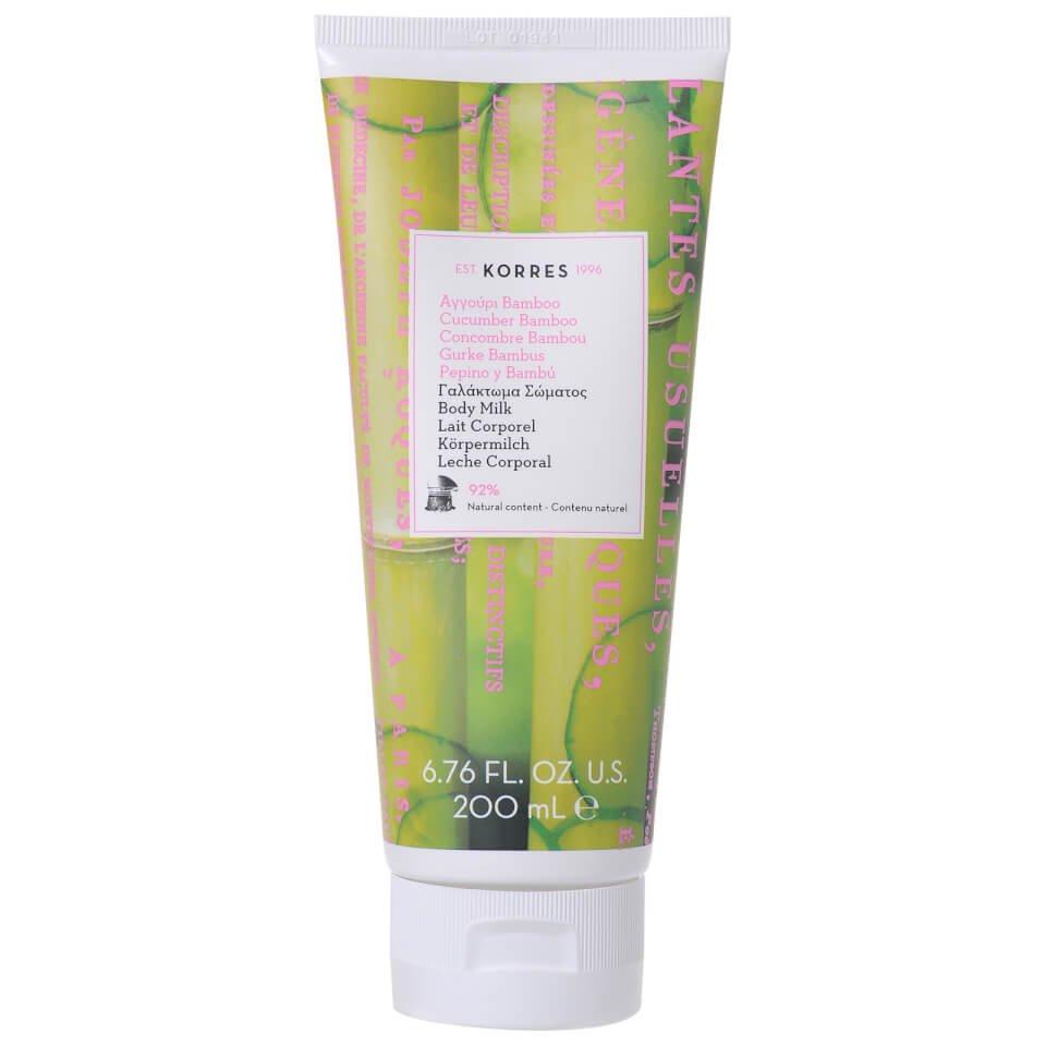 Korres Body Milk Γαλάκτωμα Σώματος Αγγούρι-Bamboo 200ml