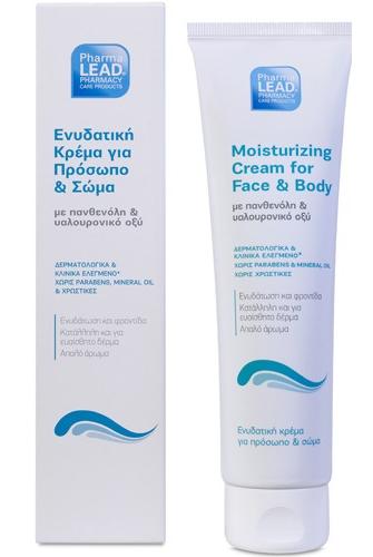 Pharmalead Moisturizing Cream for Face and Body Εμπλουτισμένη Σύνθεση Με 5% Πανθενόλη Που Ενυδατώνει Και Καταπραΰνει 150ml