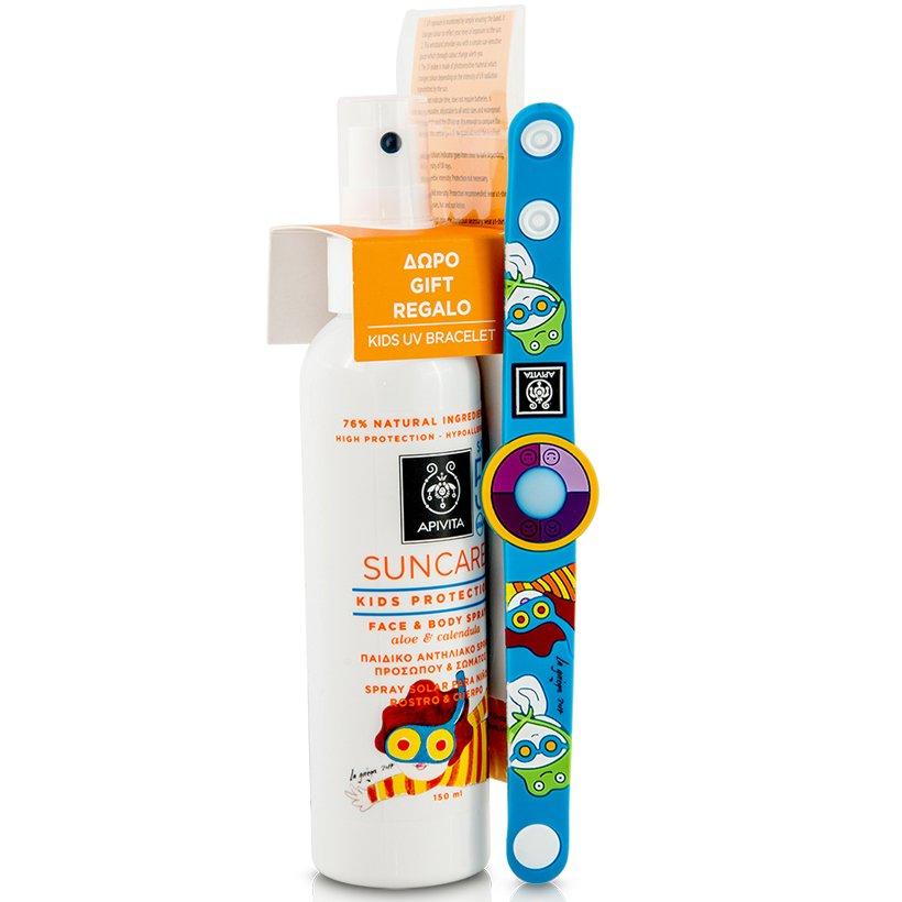 Apivita Πακέτο Προσφοράς Suncare Kids Protection Face & Body Spray Spf50 με Αλόη μητέρα παιδί   περιποίηση για το παιδί   παιδική αντηλιακή προστασία