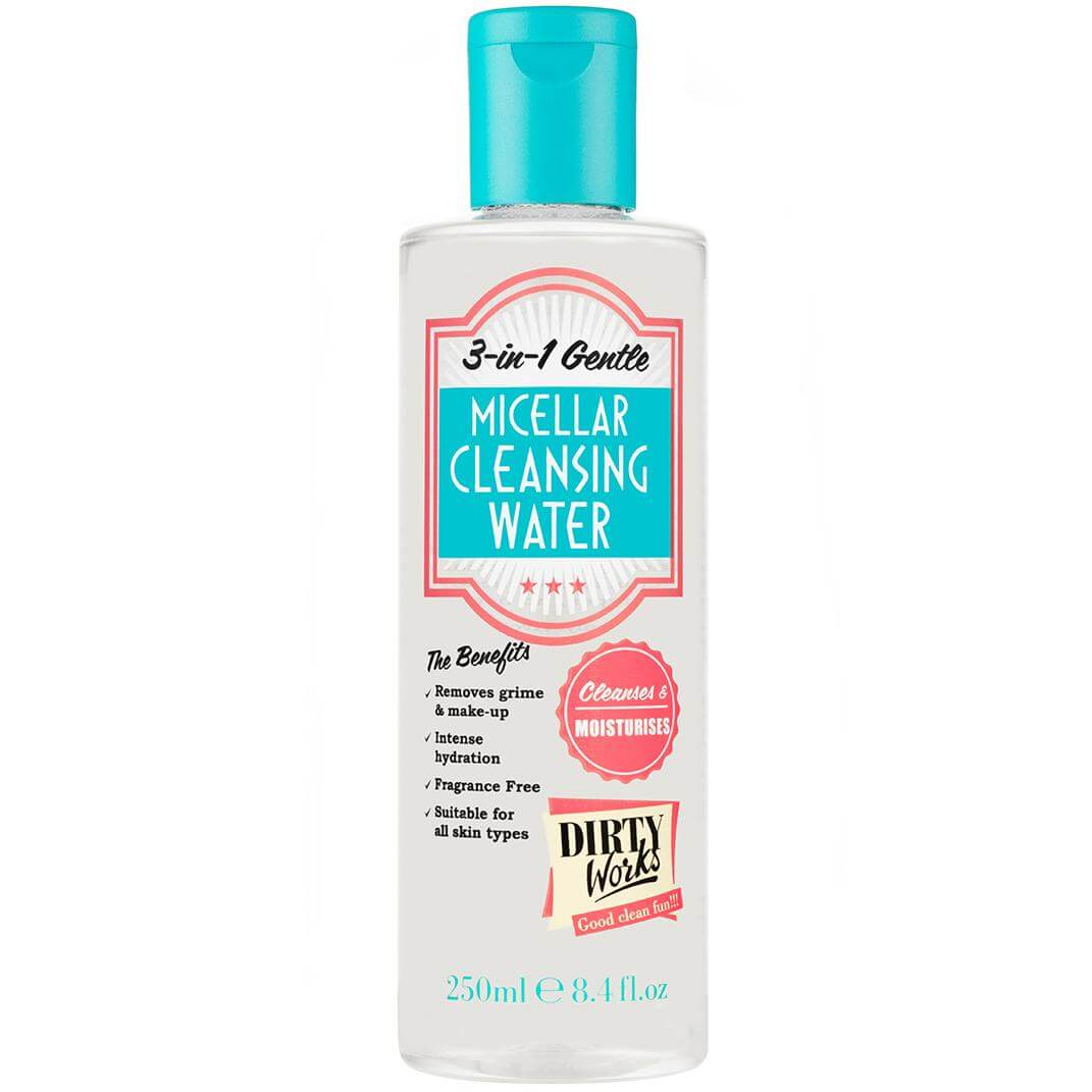 Dirty Works Micellar Cleansing Water 3-in-1Νερό Ντεμακιγιάζ 250ml