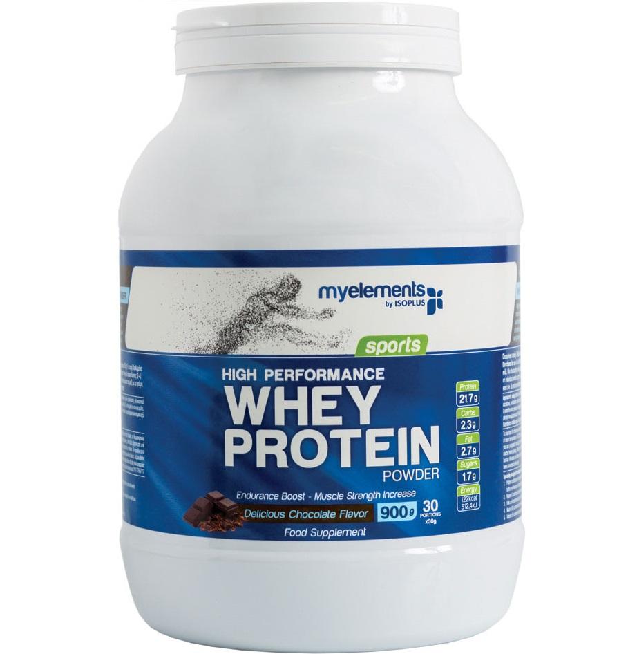 Myelements Sports Whey Protein Powder Φόρμουλα με Υψηλής Ισχύος Πρωτεϊνη 900gr – Vanilla