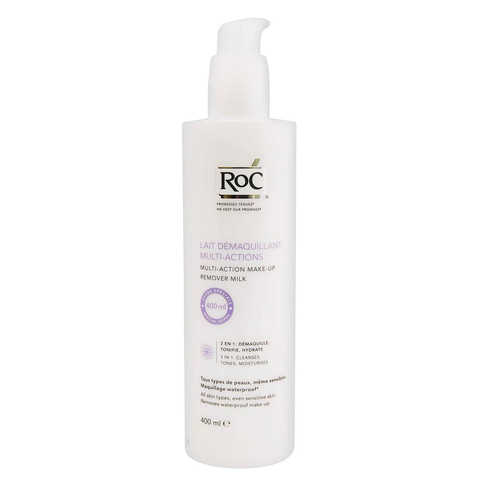 Roc Lait Demaquillant Multi-Actions 3 in 1 Λεπτόρρευστο Γαλάκτωμα Καθαρισμού-Ντεμακιγιάζ 3 σε 1 400ml Promo -20%
