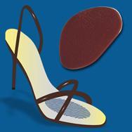 Johns Happy Feet Αυτοκόλλητο Στήριγμα Μεταταρσίου Σιλικόνη One Size 17246 – καφε