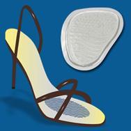 Johns Happy Feet Μετατάρσιου Silicone One Size Διάφανο Στήριγμα Μεταταρσίου Για Ψηλοτάκουνα Παπούτσια 17247