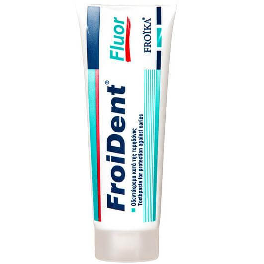 Froika Froident Fluor Φθοριούχος Οδοντόκρεμα Κατά της Τερηδόνας. Iσχυροποιεί την Αδαμαντίνη & της Οδοντίνη 75ml