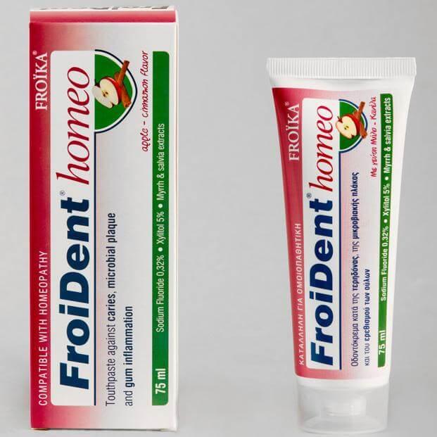 Froika Froident Homeo (Μήλο – Κανέλλα) Ομοιοπαθητική Οδοντόκρεμα 75ml