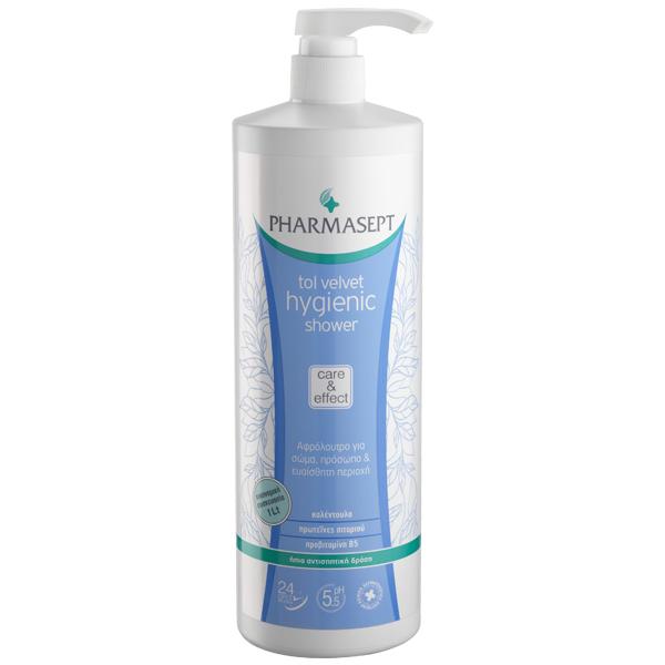 Pharmasept Tol Velvet Hygienic Shower Αφρόλουτρο με Ήπια Αντισηπτική Δράση για Σώμα, Πρόσωπο & Ευαίσθητη Περιοχή 1lt