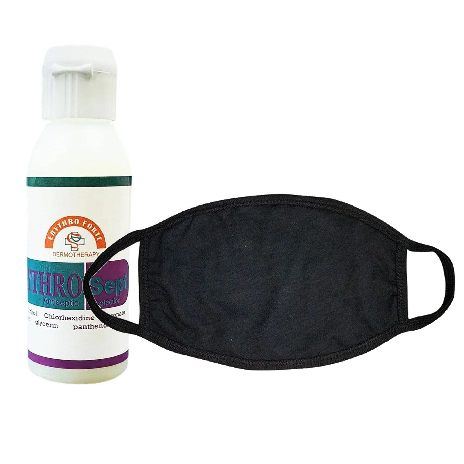Erythro Forte Πακέτο Αντισηπτικής Προσφοράς ErythroSept Antiseptic Protection 60ml & Garden Face Mask Μάσκα Προσώπου Υφασμάτινη