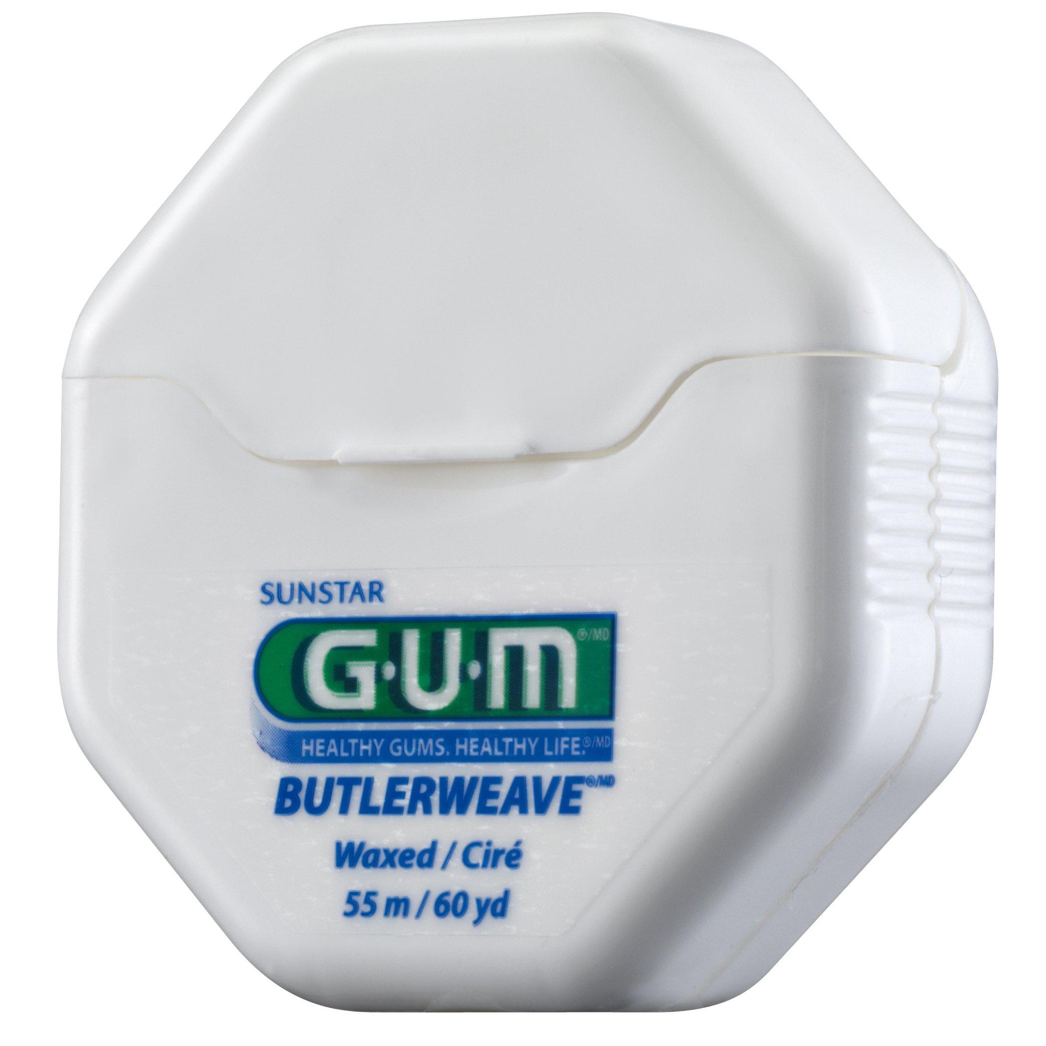 Gum Butlerweave Floss Waxed Οδοντικό Νήμα με Κερί 55m (1155)