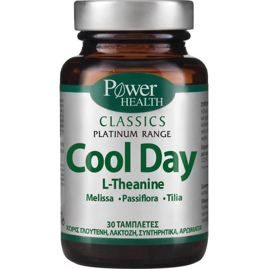 Power Health Platinum Range Cool Day Αντιμετώπιση Άγχους και Συμπτωμάτων, χωρίς Παρενέργειες ή Εθισμό 30tabs