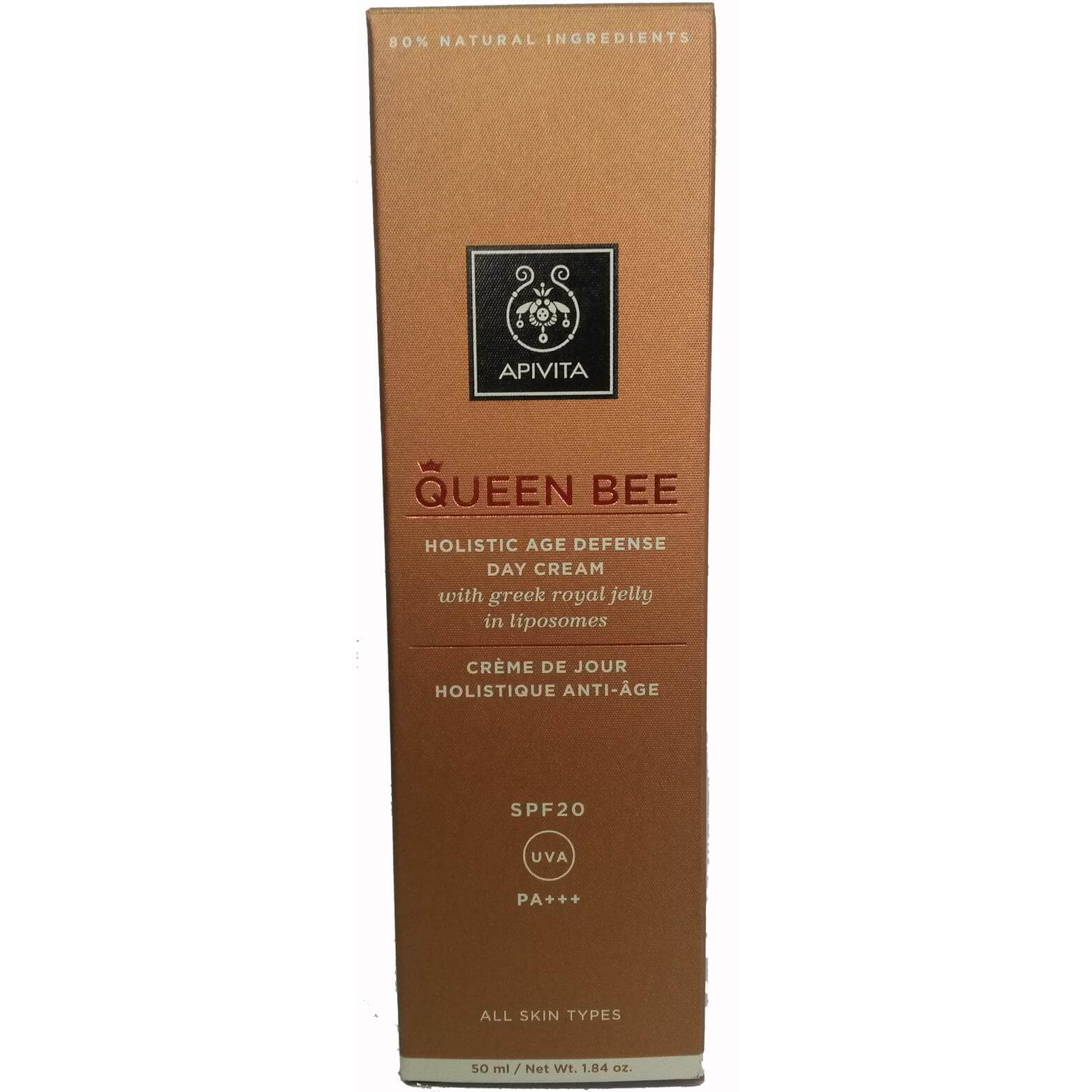 Apivita Queen Bee Kρέμα Ημέρας Ολιστικής Αντιγήρανσης Spf20 με Ελληνικό Βασιλικό Πολτό 50ml