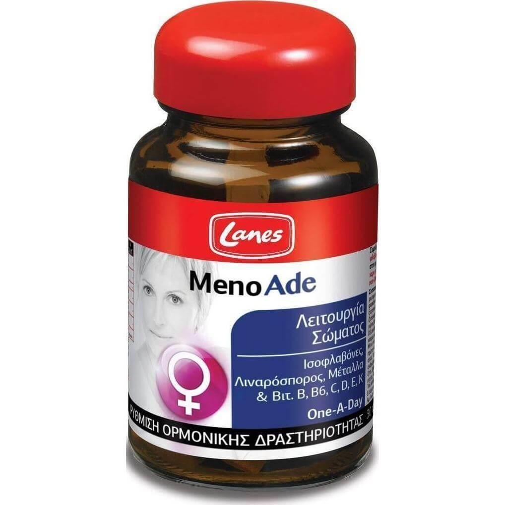 Lanes Menoade Συμπλήρωμα Διατροφής για τη Ρύθμιση της Ορμονικής Δραστηριότητας 30κάψουλες