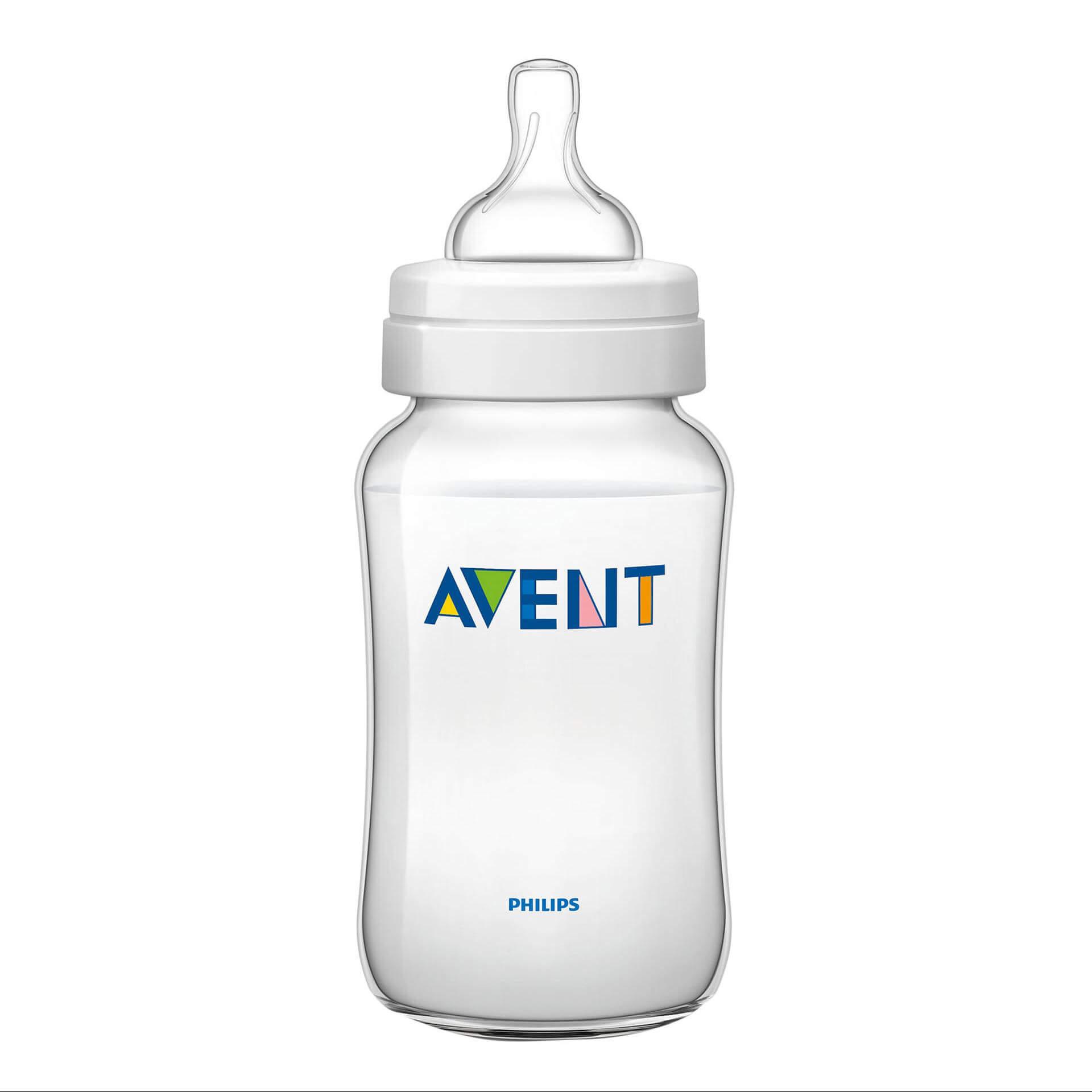 Avent Classic+ Πλαστικό Μπιμπερό 3m+ Μηνών με Πιπίλα Σιλικόνης330ml Χωρίς BPA SCF566/17