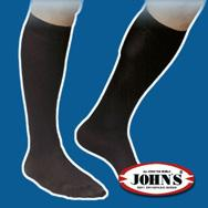 Johns Kάτω Γόνατος Bαμβακερή280 Aνδρική (17 – 20mmHg) 2145127 – ΜΑΥΡΟ νούμερο 4