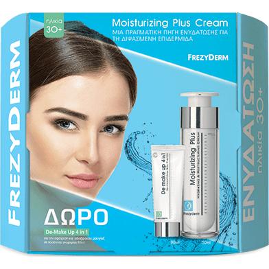 Frezyderm Πακέτο Προσφοράς Moisturizing Plus Cream για Ηλικίες 30+50ml &Δώρο De-Make Up 4 in 180ml