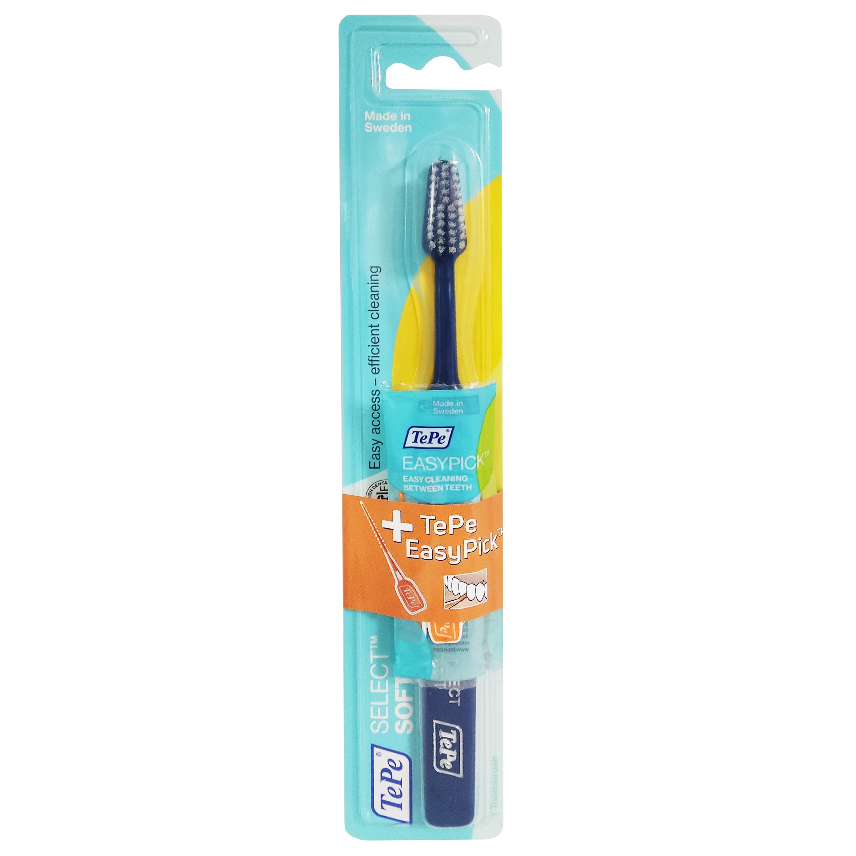 Tepe Promo Select Soft Blue Toothbrush 1 Τεμάχιο & Δώρο Easy Pick 2 Τεμάχια