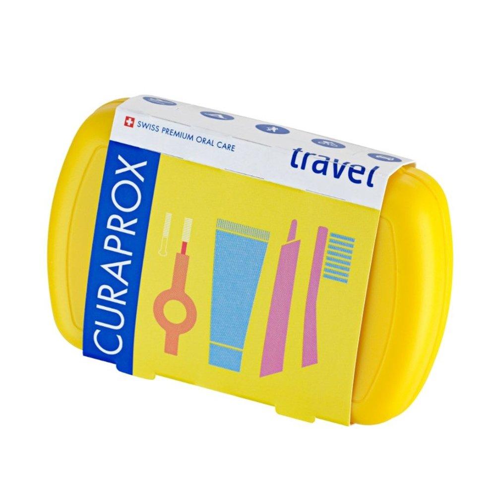 Curaprox Travel Set Yellow Σετ Ταξιδίου Στοματικής Φροντίδας σε Κίτρινο Χρώμα 1 Τεμάχιο