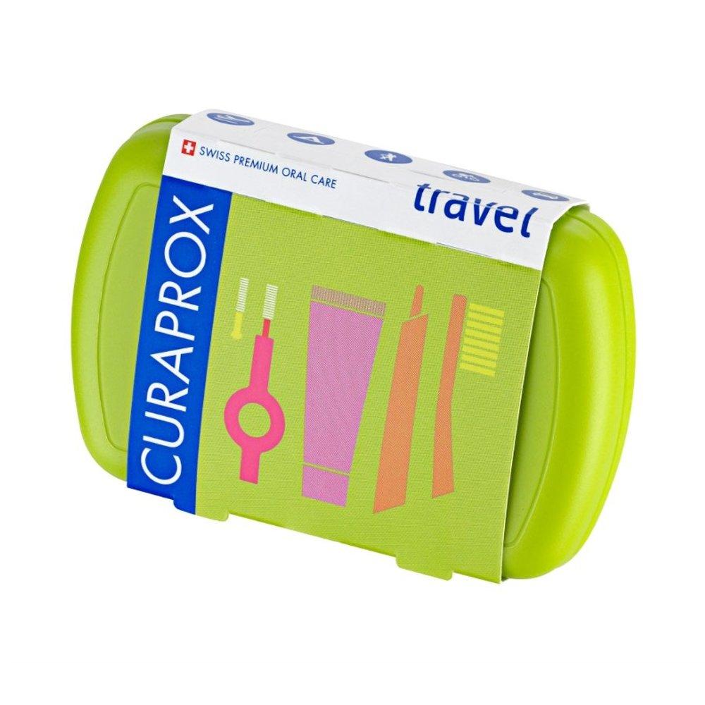 Curaprox Travel Set Green Σετ Ταξιδίου Στοματικής Φροντίδας σε Πράσινο Χρώμα 1 Τεμάχιο
