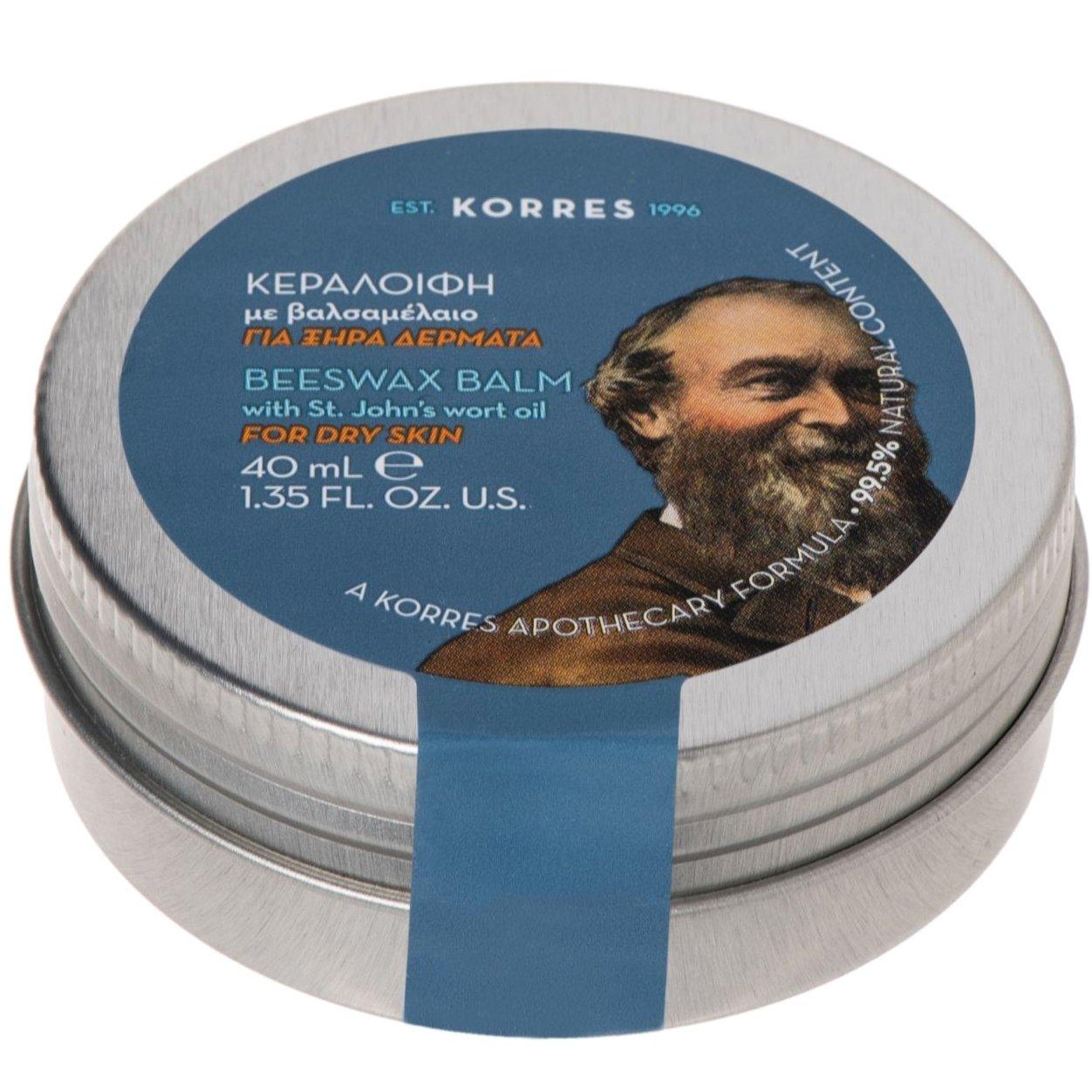 Korres Beeswax Balm with St John's Wort Oil Κεραλοιφή με Βαλσαμέλαιο για Ξηρά Δέρματα 40ml