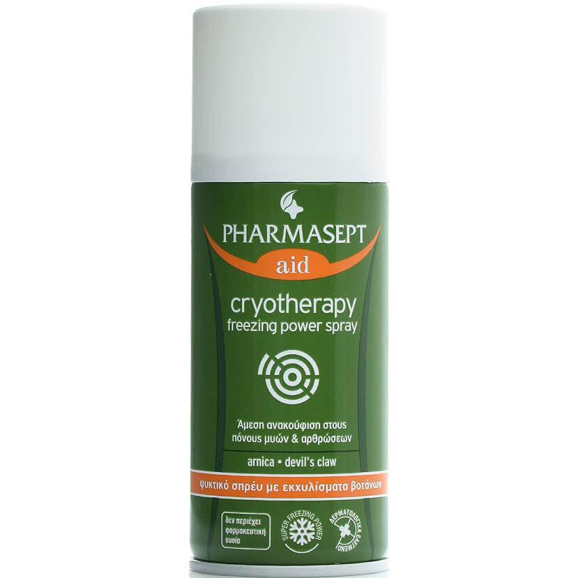 Pharmasept Aid Tol velvet Cryotherapy Freezing Power Spray Ψυκτικό Σπρέι με Εκχυλίσματα Βοτάνων για Άμεση Λύση 150ml