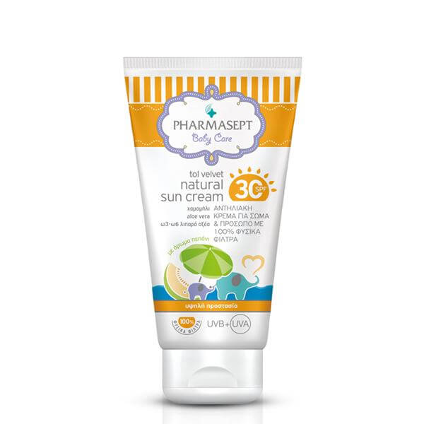 Pharmasept Tol Velvet Natural Sun Cream Spf30 100ml 8098